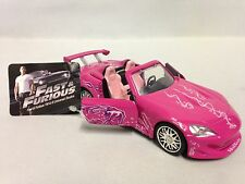 "Fast-Furious Sukl's, 2001 Honda S2000, 5.5"" Diecast 1:32 Pull Back Jada Toy Pink"