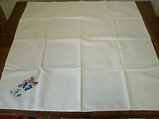 Vintage Hand Embroidered Tablecloth w/ Mexican Mariachi cactus 32x33 (T5)