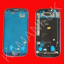 Media Placa De Metal Mid Lcd Marco Bisel Carcasa Azul Para Samsung I9300 Galaxy S3
