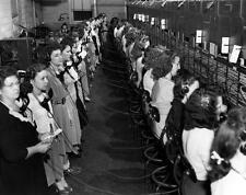 Photo. 1940s. Tennessee. Telephone Switchboard Operators Shift Change