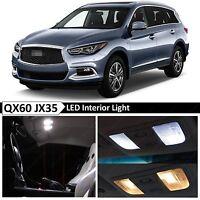 15x White Interior LED Lights Package Kit for 2013-2016 QX60 JX35