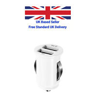 Universal dual Port USB Car Charger for all USB devices 1A & 2.1Amp - UK Stock