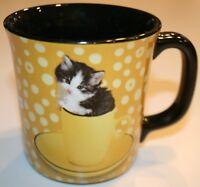 Encore Keith Kimberlin Kitten Yellow Cup Coffee Mug