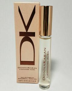 DONNA KARAN CASHMERE AURA Eau De Parfum Rollerball 0.34 Oz /10 ml New Perfume