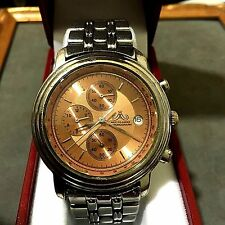 'VINTAGE' *MEISTER- ANKER* 838.051 COPPER DIAL S.S CHRONO / DATE MAN'S WATCH!!