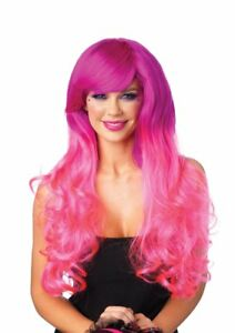 Leg Avenue Cambria 2-Tone Long Wavy Wig Pinks- Looks Real/Professional Quality
