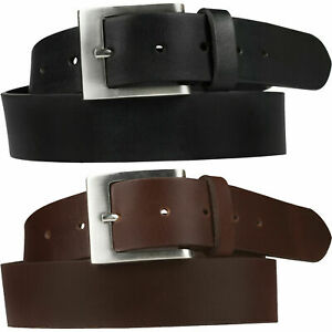"Mens Leather Belts 1'5""  Full Grain  Belt Genuine Leather Black Brown 5 styles"