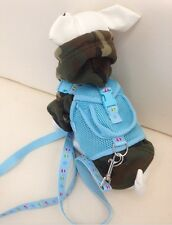 Blue Rucksack Dog Harness With FREE Lead Size M Chihuahua Yorkie Pom Puppy