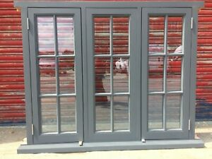 Traditional Hardwood Georgian Style Triple Casement Window! Glazed! Bespoke!