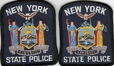 (2) NEW YORK STATE POLICE MINI PATCHES PATCH NY HAT SIZE