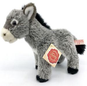 Hermann Teddy Plush Baby Donkey Soft Toy 19cm 7.5in Hang Tag Seam Label