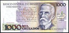Brasil, Billete de Banco Central 1000 mil jinetes - 1987-UNC