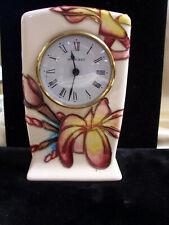 Moorcroft Porcelain Clock-Frangipani Design-c.1999