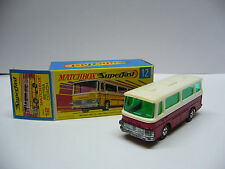 Matchbox  Superfast-  MB 12 - Setra Coach- rotmetallic - Made in England