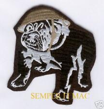 VINTAGE US MARINES BULLDOG HAT PATCH DEVIL DOG USMC CHESTY HELMET Teufel Hunden