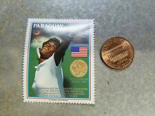 New listing Zina Garrison USTA Tennis Olympics Seoul 1988 Paraguay Perforated Stamp