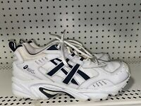 ASICS Gel-120 TR Womens Leather Athletic Walking Shoes Size 10.5 White Blue