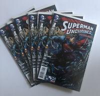 SUPERMAN Unchained Comic Book #1 Lot of 6 DC Comics 75 2013 Comic Book MINT/NM