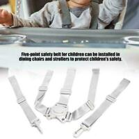 Baby Universal 5 Point Harness High Chair Safe Belt Belts Seat E2R3