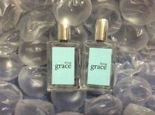 Philosophy LIVING GRACE EDT Fragrance LOT OF TWO 10ml/0.33oz each