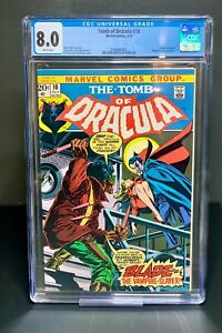 Tomb of Dracula #10 (1973) - 1st appearance  Blade - CGC 8.0 - White Pages