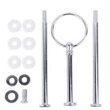3 Tier Silver Ring Rod Cake Cupcake Plate Stand Center Handle Fittings Hardware