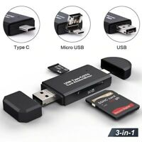 Type C Micro USB OTG USB 2.0 Adapter SD Card Reader For Android Phone Tablet PC