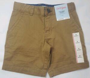 Cat & Jack flat Front Shorts Boys Size 4 Dark khaki Target New With Tags