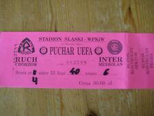 Ticket: Ruch Chorzow - Inter Milan UEFA (14-9-00)