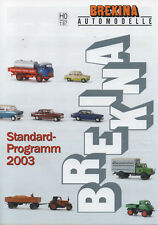 "BREKINA AUTOMODELLE ""Standard Programm 2003"" Peugeout 404 Limosine, Volvo Amazon"