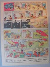 Mickey Mouse Sunday Page by Walt Disney from 7/7/1940 Tabloid Page Size