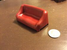 1973 Hasbro Doll Couch Red #2 Dollhouse Furniture
