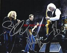 Robert Plant, John Paul Jones, & Jimmy Page Signed Led Zeppelin 8 x 10 Photo rep