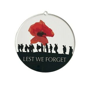 Lest We Forget Soldiers Poppy Wreath Suncatcher, Remembrance Sunday, Anzac Day