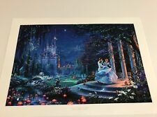 "Thomas Kinkade"" Cinderella Dancing in the Starlight ""  Lithograph Disney 24 x 36"
