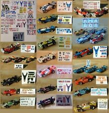AFX / TOMY F1 & Indy Repro Stickers!  Check Them Out!!!