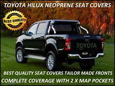 FULL BACK FRONT NEOPRENE SEAT COVERS SUITS HILUX SR / SR5 (JUNE 2005 - AUG 2015)