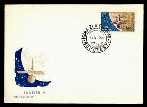 DR WHO 1965 ROMANIA FDC SPACE RANGER 9 CACHET OVPT  f95359