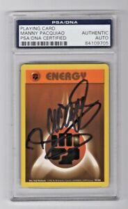 1999 Pokemon Base Set Manny Pacquiao Signed Fighting Energy 97/102 PSA/DNA