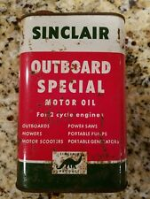 Vintage  Sinclair Dino Outboard Special Motor Oil Old Quart Can Rare sign gas