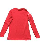Women's Size XL Hot Pink Nike Therma-Fit Long Sleeve Top With Thumb Holes