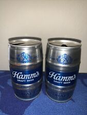 Flat Top Beer Cans Hamms Draft Beer Keg Style Cans Lot Of 2 Pull Tab