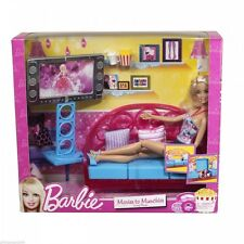Barbie Living Room Furniture and Doll Blonde New & Sealed