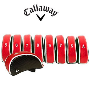 Callaway Golf Deluxe Iron Headcovers Set of 9 GENUINE Faux Leather covers