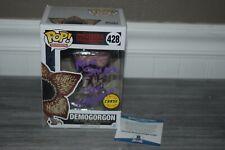 Mark Steger Demogorgon Stranger Things SIGNED Funko Pop CHASE 428 BAS COA comic