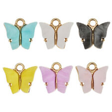 10Pcs Mixed Color Acrylic Butterfly Charms Pendant DIY Earrings Jewelry Findings