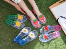 Women's Flat Fruit Transparent Slippers Summer Beach Sandals Causal Flip flops
