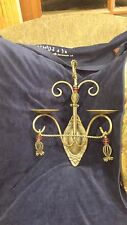 "VINTAGE  LARGE ORNATE CAST IRON WALL MOUNT CANDLE HOLDER/SCONCE! 16"" x 12"""