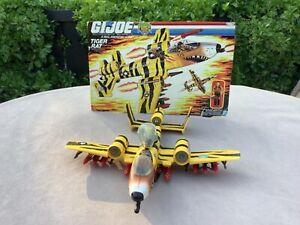 1980's Hasbro GI Joe Tiger Force Tiger Rat Plane with Skystriker. Near complete