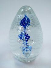 M Design Art Handcraft Bubble Sapphire Flame Ring Glass Paperweight